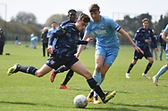 Leeds United forward Niall Huggins during the U18 Professional Development League match between Coventry City and Leeds United at Alan Higgins Centre, Coventry, United Kingdom on 13 April 2019.