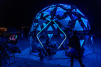 Name Unknown - The lights on this amazing dome were controllable with a touchscreen. - https://Duncan.co/Burning-Man-2021