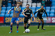 Wimbledon midfielder Anthony Wordsworth (40) in action  during the EFL Sky Bet League 1 match between Shrewsbury Town and AFC Wimbledon at Greenhous Meadow, Shrewsbury, England on 2 March 2019.