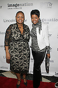 Moikgansti Kgama and Malinda Willams at The ImageNation celebration for the 20th Anniversary of ' Do the Right Thing' held Lincoln Center Walter Reade Theater on February 26, 2009 in New York City. ..Founded in 1997 by Moikgantsi Kgama, who shares executive duties with her husband, Event Producer Gregory Gates, ImageNation distinguishes itself by screening works that highlight and empower people from the African Diaspora.