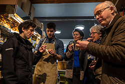 Pictured: Mairi Gougeon, Rory Mellis,  Jane Stewart (Chair of Fine Cheesemakers Scotland,  Jill and Callum Clark (Conmage Highland Dairy, Tain)<br /> <br /> Rural Affairs Minister Mairi Gougeon, MSP,  announced funding to promote locally sourced food and drink on a visit to an Edinburgh cheesemonger today.<br /> <br /> A total of 21 projects will share £95,550 from the Connect Local Regional Food Fund.<br /> <br /> Ms Gougeon met producers from Fine Cheesemakers of Scotland at I.J. Mellis Cheesemonger in Edinburgh. The group has been awarded funding to develop marketing materials and promote cheese as a pairing to whisky.<br /> <br /> Ger Harley   EEm 20 February 2020