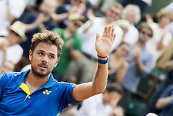 June 1, 2017 - Paris, Frankreich - Paris, 01.06.2017, Tennis - French Open 2017, Stan Wawrinka (SUI) jubelt nach dem Spiel  (Credit Image: © Pascal Muller/EQ Images via ZUMA Press)