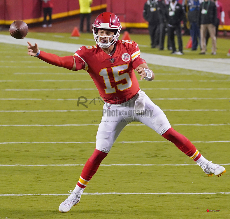 Oct 11, 2020; Kansas City, Missouri, USA; during the game at Arrowhead Stadium. Mandatory Credit: Denny Medley-USA TODAY Sports