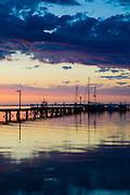 Fishing at Sunset, Port Stephens, NSW, Australia