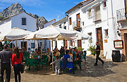 Cafes in Andalucian village of Grazalema, Cadiz province, Spain