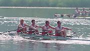 Lucerne, Switzerland. 1995 FISA WC III, Lake Rotsee, Lucerne,<br /> GBR M4X, Simon LARKIN at 2<br /> [Mandatory Credit. Peter SPURRIER/Intersport Images]<br /> <br /> Image scanned from Colour Negative