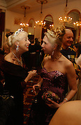 Baroness Ilse von Beregshasy and  Lady Georgia Campbell . The St. Petersburg Ball, In aid of the Children's Fire and Burn Trust-Russia 2005.  The Cafe Royal. 3 February 2006. -DO NOT ARCHIVE-© Copyright Photograph by Dafydd Jones 66 Stockwell Park Rd. London SW9 0DA Tel 020 7733 0108 www.dafjones.com