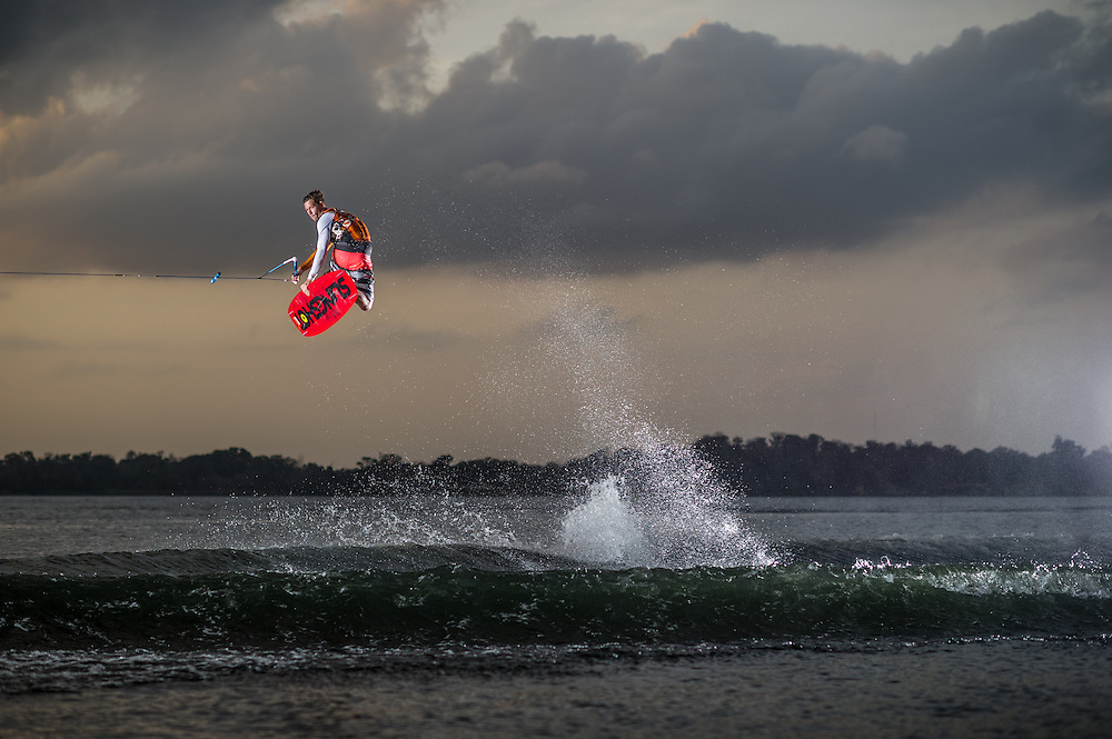 Jeff McKee shot for the cover of Transworld Wakeboarding Magazine in Orlando, Florida.