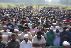 August 15, 2017 - Lelhar District Pulwama, Jammu and Kashmir, India - Thousands of people came from different district to perform funeral prayers of Ayub Lelhari at his ancestral village in Lelhar District Pulwama some 29 Kilometres south from Srinagar, as security persons had put restriction on the bridge which connects Lelhar with other places but still people cross the river by boats and perform the funeral prayers of ayub lelhari who got killed in a breif encounter with Government Security forces at Quil Pulwama, indian administered kashmir (Credit Image: © Muzamil Bhat/Pacific Press via ZUMA Wire)