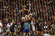 Twickenham. Surrey. UK England vs New Zealand, Autumn Internationals.<br /> Ali WILLIAMS, contesting the line out ball with, Lawrence DALLAGLIO.<br /> 09/11/2002<br /> International Rugby England vs New Zealand [Mandatory Credit Peter SPURRIER/Intersport Images]