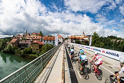Peloton over the bridge in town Novo mesto during 5th Stage of 26th Tour of Slovenia 2019 cycling race between Trebnje and Novo mesto (167,5 km), on June 23, 2019 in Slovenia. Photo by Matic Klansek Velej / Sportida