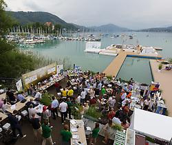 29-07-2014 AUT: FIVB Grandslam Volleybal, Klagenfurt<br /> Bereich der Presskonfernz <br /> ***NETHERLANDS ONLY***