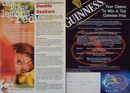 All Ireland Senior Hurling Championship - Final, .13.09.1998, 09.13.1998, 13th September 1998, .13091998AISHCF,.Senior Kilkenny v Offaly, .Minor Kilkenny v Cork,.Offaly 2-16, Kilkenny 1-13,.Guinness,