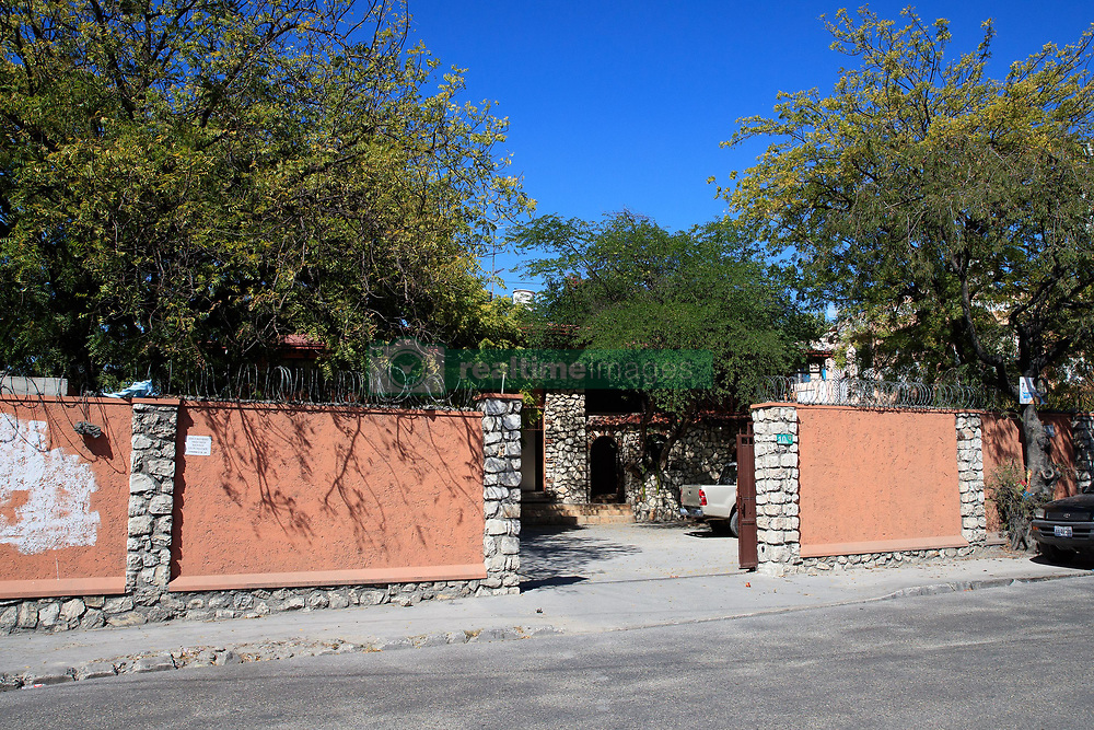 EXCLUSIVE: This is the luxury apartment complex in a run-down area of Port-au-Prince, Haiti, where a regional Oxfam director and aid workers are alleged to have exploited locals for sex after the 2010 earthquake in the poverty-stricken nation. 12 Feb 2018 Pictured: The nondescript street entrance to the apartments. Photo credit: MEGA TheMegaAgency.com +1 888 505 6342