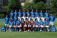 Fotball<br /> Italia landslag VM 2006<br /> 25.05.2006<br /> Foto: imago/Digitalsport<br /> NORWAY ONLY<br /> <br /> WM Kader Italien: hi.v.li.: Barone, Barzagli, Materazzi, Nesta, Iaquinta, Toni, Gilardino, Oddo, Zaccardo; Mitte: Gattuso, Camoranesi, Perrotta, X, Bordon, Nationaltrainer Lippi, X, Ferrara, X, Zambrotta, Grosso; ... <br /> Lagbilde Italia 2006