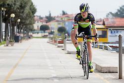 Miha Poljanec of KK Sava Kranj during prologue (2km) of 13th Istrian Spring Trophy cycling race on March 10, 2016 in Umag, Croatia. Photo by Urban Urbanc / Sportida