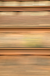 View from the window of a speeding train,
