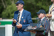Henley Royal Regatta, Henley on Thames, Oxfordshire, 2-6 July 2014.  Thursday  11:21:31   03/07/2014  [Mandatory Credit/Intersport Images]<br /> <br /> Rowing, Henley Reach, Henley Royal Regatta.<br /> <br /> Gavin Stewart, Esq and John Boultbee, Esq. Stewards and Timekeepers, Henley Royal Regatta.