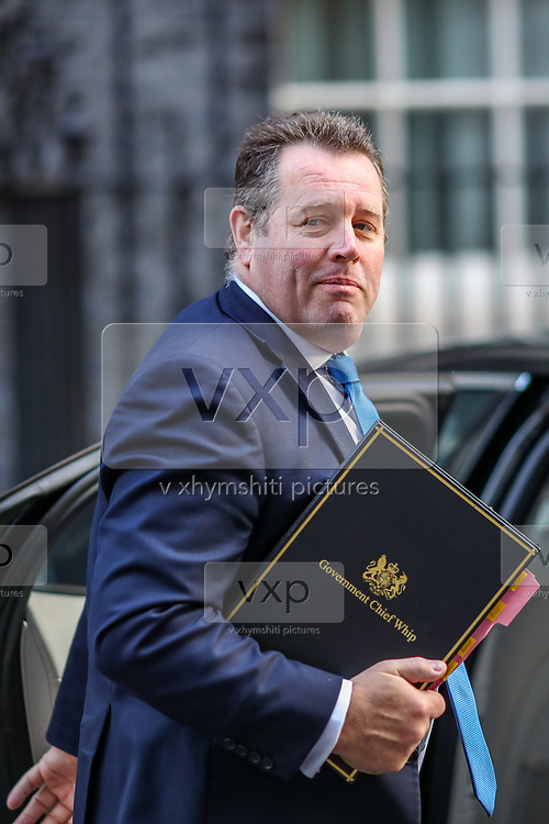 Chief Whip Mark Spencer arrives in 10 Downing Street, London, ahead of a Cabinet meeting at the Foreign and Commonwealth Office on Wednesday, Sept 30, 2020. (VXP Photo/ Vudi Xhymshiti)