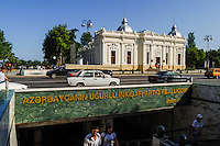 Azerbaijan, Baku. Baku is the capital, the largest city, and the largest port of Azerbaijan and entire Caucasus.