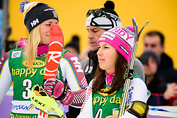 January 7, 2018 - Kranjska Gora, Gorenjska, Slovenia - Wendy Holdener of Switzerland celebrating her third place at the the Slalom race at the 54th Golden Fox FIS World Cup in Kranjska Gora, Slovenia on January 7, 2018. (Credit Image: © Rok Rakun/Pacific Press via ZUMA Wire)