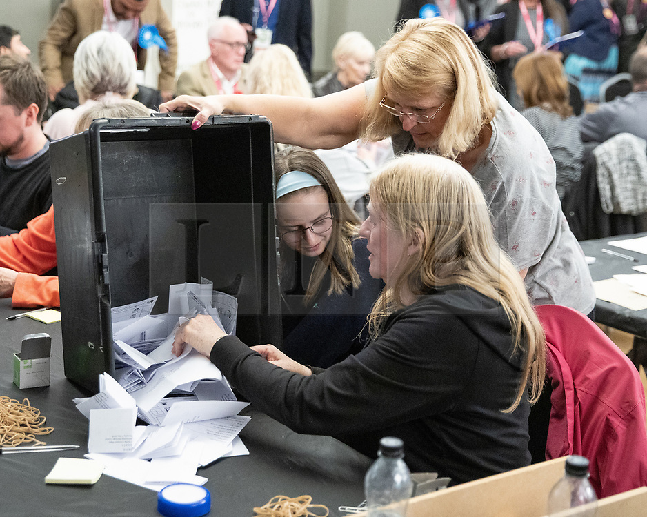 © Licensed to London News Pictures . 02/05/2019. Bolton, UK. The count for Bolton Council at Bolton Town Hall . The Labour Party are threatened to lose their majority on the council . Local council elections are taking place across the country . Photo credit: Joel Goodman/LNP