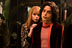 Lucy Boynton (Mary Austin) and Rami Malek (Freddie Mercury) star in Twentieth Century Fox's BOHEMIAN RHAPSODY. Photo Credit: Alex Bailey.