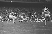 26.09.1971 Football All Ireland Final Galway Vs Offaly & Minor Final Mayo Vs Cork..Offaly.1-14.Galway.2-8.Offaly. ..M. Furlong, M. Ryan, P. McCormack, M. O'Rourke, E. Mulligan, N. Clavin, M. Heavey, W. Bryan (Captain), K. Claffey, J. Cooney, K. Kilmurray, A. McTague, J. Gunning, S. Evans, Murt Connor.Subs: J. Smith for N. Clavin; P. Fenning for J. Gunning.W. Bryan (Captain). ..Galway. .P. J. Smyth, B. Colleran, J. Cosgrove, N. Colleran, L. O'Neill, T. J. Gilmore, C. McDonagh, L. Sammon (Captain), W. Joyce, P. Burke, J. Duggan, M. Rooney, E. Farrell, F. Canavan. S. Leydon..Subs: T. Divilly for M. Rooney; M. Feerick for P. Burke.L. Sammon (Captain)