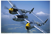 "P-38 ""Go Buggy"", aerial"