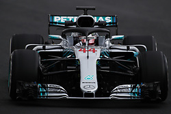 February 26, 2018 - Barcelona, Catalonia, Spain - February 26, 2018 - Circuit de Barcelona-Catalunya, Montmelo, Spain - Formula One preseason 2018; Lewis HAMILTON of Mercedes-AMG-Petronas Formula One Team,Mercedes F1 W09 Hybrid, during the afternoon session. (Credit Image: © Eric Alonso via ZUMA Wire)