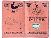outside of a vintage Pathé film and prints envelope 1910s France