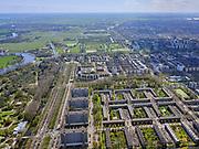 Nederland, Noord-Holland, Amsterdam; 17-04-2021; Buitenveldert met Amstelpark en Europaboulevard. <br /> <br /> luchtfoto (toeslag op standard tarieven);<br /> aerial photo (additional fee required)<br /> copyright © 2021 foto/photo Siebe Swart