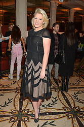 NATALIE COYLE at a dinner hosted by Amy Molyneaux and Percy Parker of fashion label PPQ to celebrate the PPQ AW 2015 collection 'Persephone' held at Braserie Chavot, 41 Conduit Street, London on 22nd February 2015.