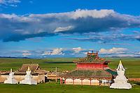 Mongolie, province de Ovorkhangai, monastère de Shankh fondé en 1647 par Zanabazar // Mongolia, Ovorkhangai, Shankh Monastery, founded in 1647 by Zanabazar