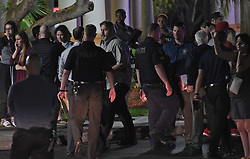 Parents meet at the Fort Lauderdale Marriott Coral Springs Hotel to pick up their children following a mass shooting at nearby Marjory Stoneman Douglas High School in Parkland, FL, USA, on Wednesday, February 14, 2018. Photo by Jim Rassol/Sun Sentinel/TNS/ABACAPRESS.COM