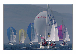 Bell Lawrie Series Tarbert Loch Fyne - Yachting.The first day's inshore races...Random GBR 8192N and the national Sonata fleet..
