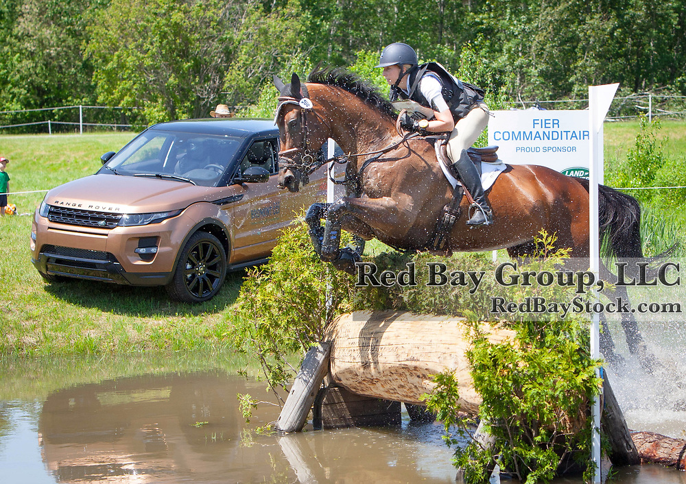 Kendal Lehari (CAN) and Totally Frank at the 2014 Jaguar Land Rover Bromont International Three Day Event in Bromont, Quebec.