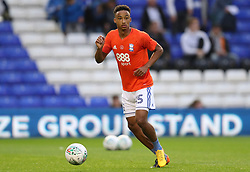 Birmingham City's Cohen Bramall warms up before the Carabao Cup, Second Round match at St Andrew's, Birmingham.
