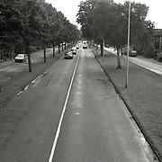 NLD/Huizen/19930911 - Huizerdag 1993 Huizen, Karel Doormanlaan Huizen hoogteaanzicht