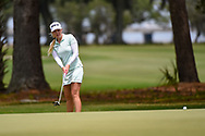 Stephanie Meadow (NIR) watches her putt on 1 during round 2 of the 2019 US Women's Open, Charleston Country Club, Charleston, South Carolina,  USA. 5/31/2019.<br /> Picture: Golffile | Ken Murray<br /> <br /> All photo usage must carry mandatory copyright credit (© Golffile | Ken Murray)