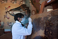 In  the village of Tipon, in the ancient Hacienda Vallumbrosio, there is the Institute of the Restoration of works of art that takes care of the artistic heritage of colonial era preserved in many ancient churches, in poor condition