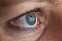 Der Wikileaks Schriftzug spiegelt sich am Samstag den 04.12.2010 in der Pupille eines Auges. Die Wikileaks Webseite ist seit den angekündigten Veröffentlichungen neuerlich ins Visir von amerikanischen Ermittlern gerückt. EXPA Pictures © 2010, PhotoCredit: EXPA/ J. Groder