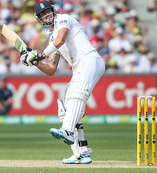 © Licensed to London News Pictures. 26/12/2013.  Kevin Pietersen batting during the Ashes Boxing Day Test Match between Australia Vs England at the MCG on 26 December, 2013 in Melbourne, Australia. Photo credit : Asanka Brendon Ratnayake/LNP