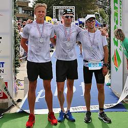 Glücksburg, 02.08.15, Sport, Triathlon, 14. OstseeMan, 2015 : 2.Platz Staffel Männer, Team Newline Team 1 (GER, #908), Tim Braug, Jonas Leefmann, Florian Reus (08:31:30)<br /> <br /> Foto © P-I-X.org *** Foto ist honorarpflichtig! *** Auf Anfrage in hoeherer Qualitaet/Aufloesung. Belegexemplar erbeten. Veroeffentlichung ausschliesslich fuer journalistisch-publizistische Zwecke. For editorial use only.