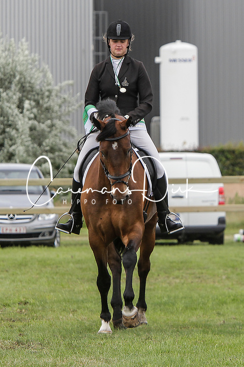 Swinnen Celine (BEL) - Hydro Hoendrikerveld<br /> 5j dressuur<br /> Nationale wedstrijd LRV jonge paarden - Lommel 2012<br /> © Dirk Caremans