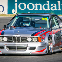Simon Emmerling turns onto the main straight at Wanneroo Raceway in his Schnitzer built BMW 635 CSi Sports Sedan.