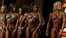 Sept.16, 2016 - Las Vegas, Nevada, U.S. -  Women compete in the Figure Olympia contest during Joe Weider's Olympia Fitness and Performance Weekend.(Credit Image: © Brian Cahn via ZUMA Wire)