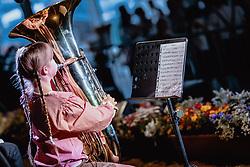 20.06.2019, Baumbar Areal, Kaprun, AUT, Austropop Festival, im Bild Jungmusikerin mit Tuba // during the Austropop Music Festival in Kaprun, Austria on 2019/06/20. EXPA Pictures © 2019, PhotoCredit: EXPA/ JFK