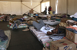 South Africa - Pretoria - 24 June 2020 - People temporarily staying at the City of Tshwane's Lyttleton homeless camp are saying they do not have enough blankets and the tents that they sleep in get extremely cold and damp at night.  Picture: Jacques Naude/African News Agency(ANA)