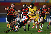 Rugby Union - 2020 / 2021 European Rugby Heineken Champions Cup - Round of 16 - Gloucester vs La Rochelle - Kingsholm<br /> <br /> La Rochelle's Kevin Gourdon is tackled by Gloucester's George Barton.<br /> <br /> COLORSPORT/ASHLEY WESTERN